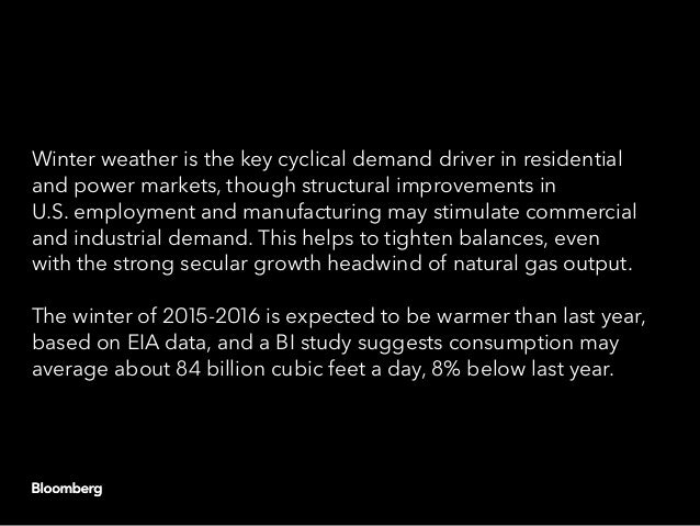 Winter weather is the key cyclical demand driver in residential and power markets, though structural improvements in U.S. ...