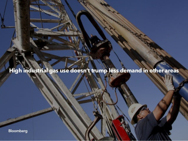 High industrial gas use doesn't trump less demand in other areas