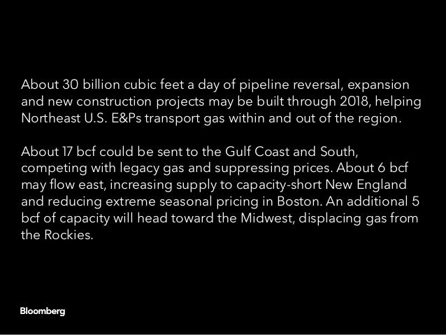 Northeast Natural Gas Pipeline Projects Year Flow Direction * Total assumes reversal, expanded, and new pipeline capacity ...