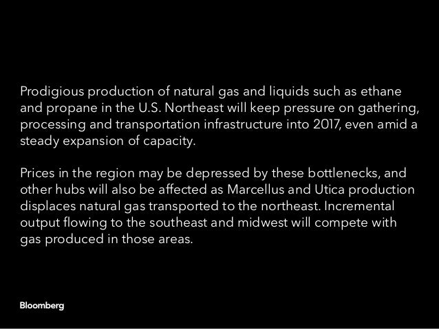 Prodigious production of natural gas and liquids such as ethane and propane in the U.S. Northeast will keep pressure on ga...