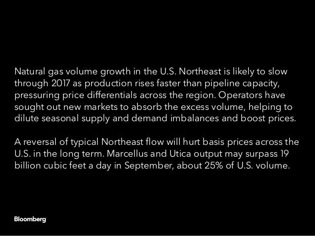 Natural gas volume growth in the U.S. Northeast is likely to slow through 2017 as production rises faster than pipeline ca...
