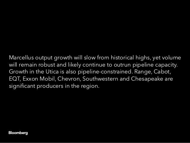 Marcellus output growth will slow from historical highs, yet volume will remain robust and likely continue to outrun pipel...