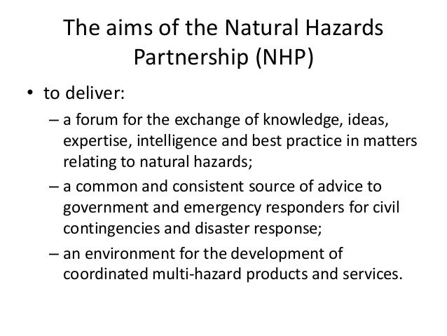 Natural Hazards Partnership | Carl Wilson Slide 3
