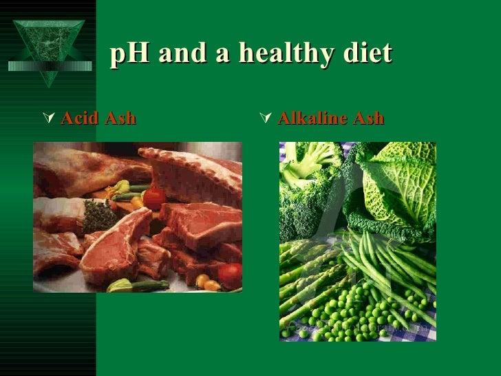 pH and a healthy diet <ul><li>Acid Ash </li></ul><ul><li>Alkaline Ash </li></ul>