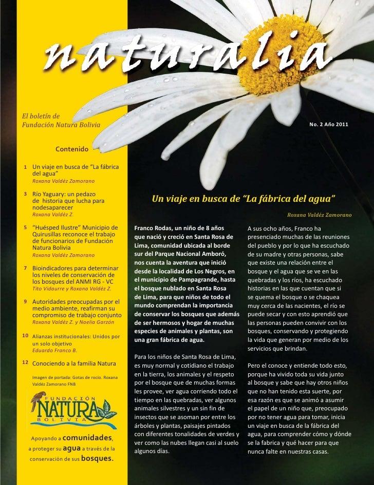 El boletín deFundación Natura Bolivia                                                                                     ...