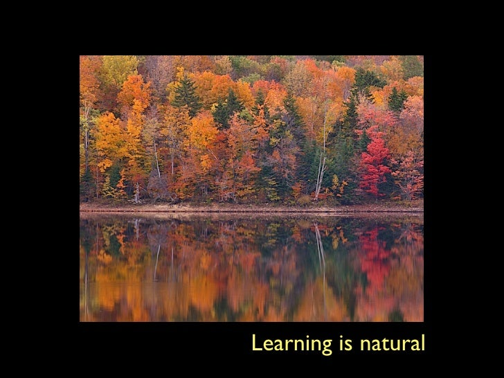 Learning is natural