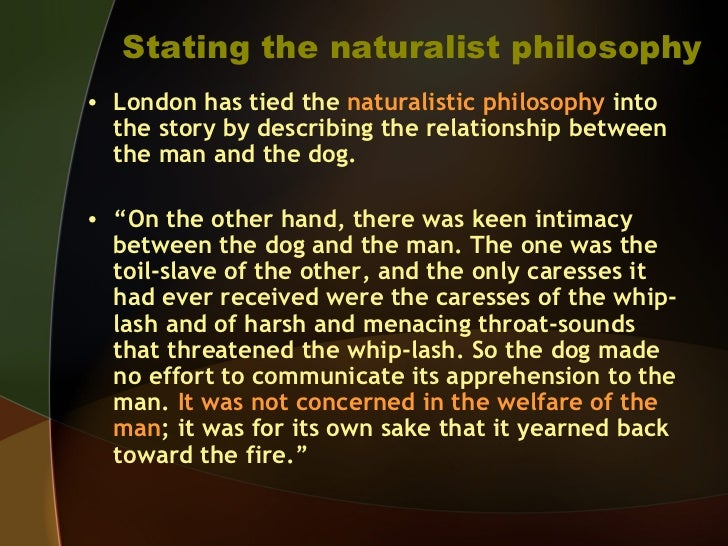 Naturalism in the works of jack london