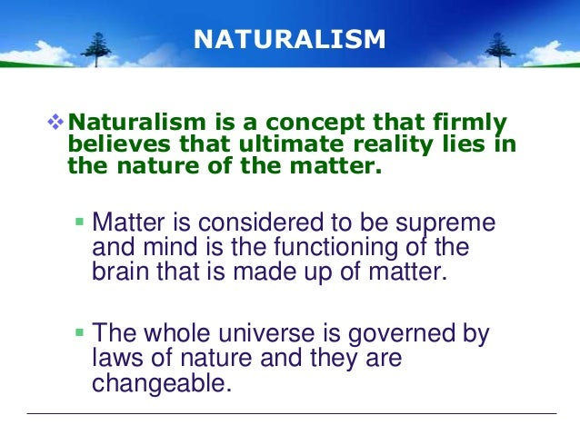 conclusion of naturalism in education