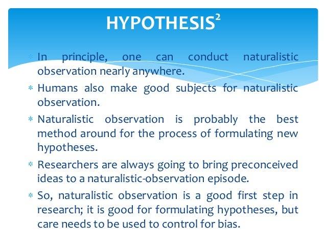 observational study ideas