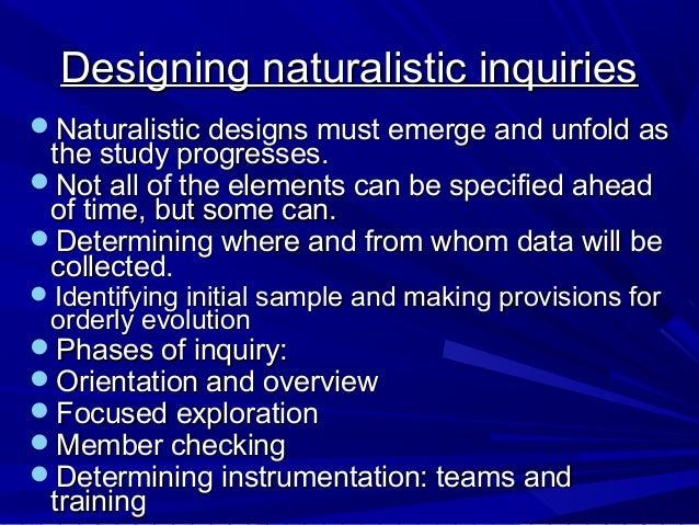 Naturalistic observation essay
