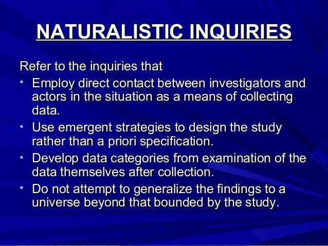 naturalistic approach