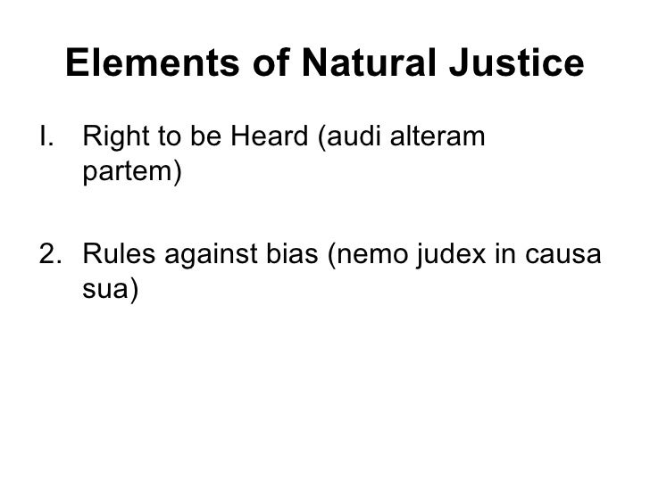 What is natural justice?