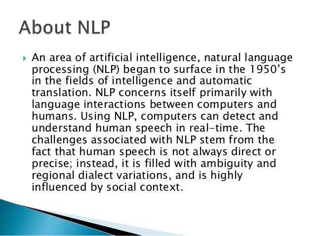 Nlp Define - NLP Practicioner