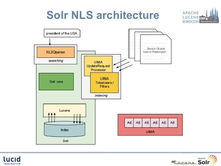 Natural language search in solr for R language architecture