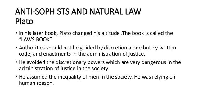 natural vs divine law A natural law ethic, such as that developed by mark murphy, provides a good foundation for a divine command theory by providing an account of the good, and a divine command theory helps a natural law ethic give a convincing explanation of moral obligations.