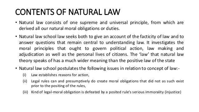 natural and positive law essay Positive law vs natural law do what you believe is right this is a phrase common to us all, this is the main focal point of in the play antigone, written by sophacles but how does one define what is right.