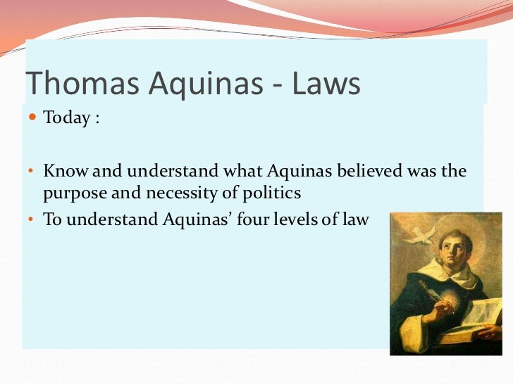 Thomas aquinas natural law theory summary