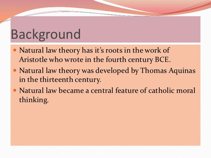 an analysis of thomas aquinas natural law theory Print pdf the natural law theory of thomas aquinas thomas d d'andrea, university of cambridge  thomas aquinas is generally regarded as the west's pre-eminent theorist of the natural law, critically inheriting the main traditions of natural law or quasi–natural law thinking in the ancient world (including the platonic, and particularly aristotelian and stoic traditions) and bringing .