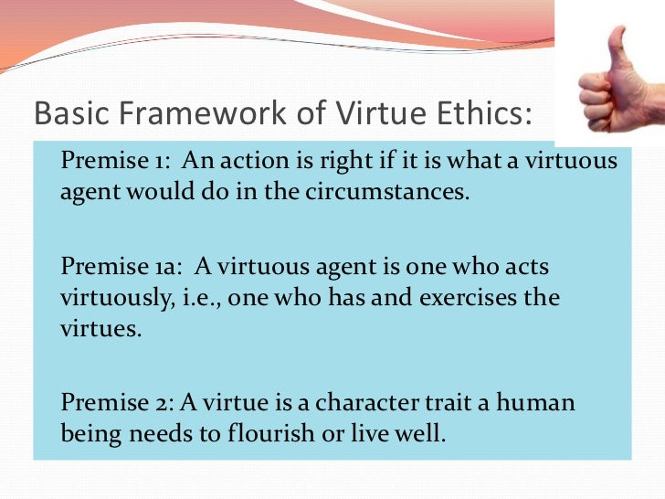 an essay on the principle of virtue ethics How you conduct yourself at work says a lot about your sense of ethics ethics and behavior at work can help make or break a company because values and ethics.