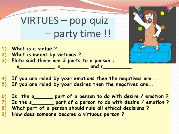 seven virtues essay