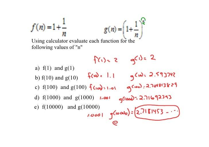 "Usingcalculatorevaluateeachfunctionforthe followingvaluesof""n""    a)f(1)andg(1)  b)f(10)andg(10)  c)f(..."