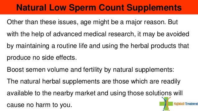 Low sperm volumne
