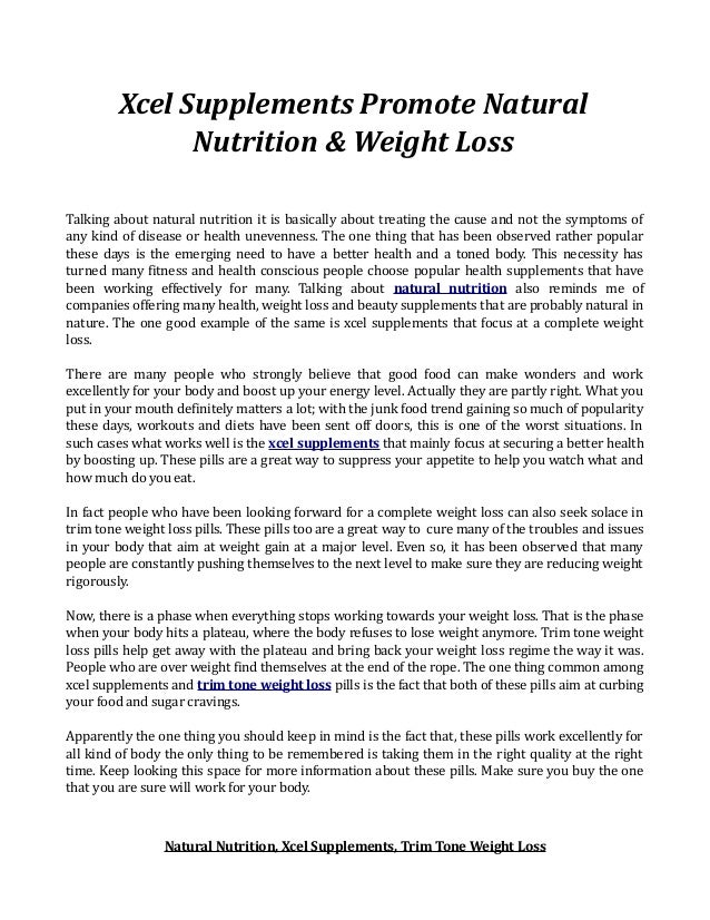 Tv weight loss products