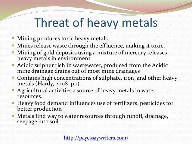 Natural Or Manmade Sources Of Heavy Metals In