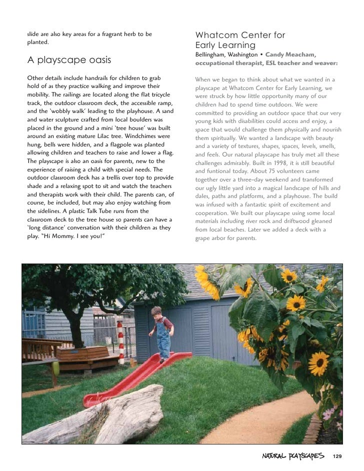 Natural Playscapes: Creating Outdoor Play Environment for ...