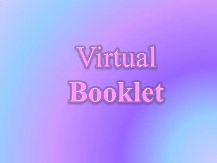 Virtual Booklet<br />