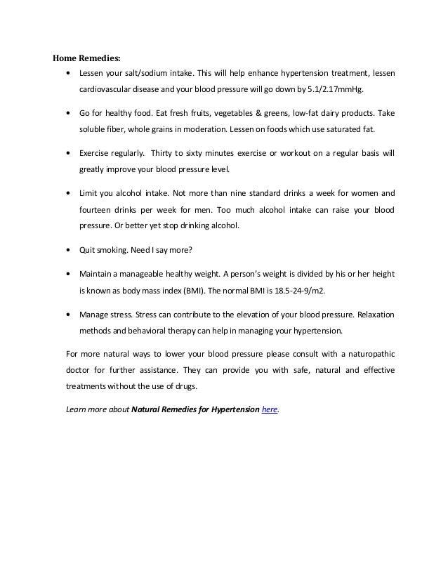 Natural remedies for hypertension Slide 3