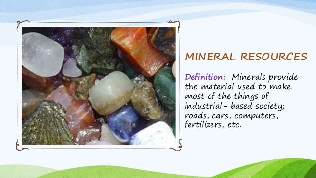 Natural resources for Mineral soil definition