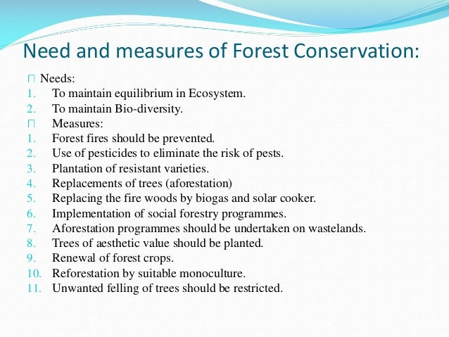 Problem Associated With Conservation Of Natural Resources