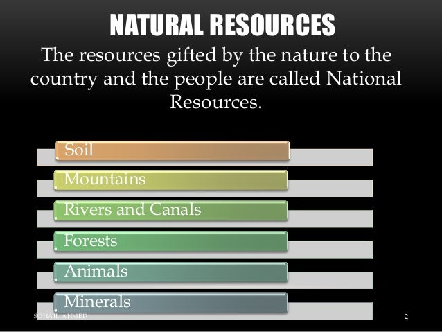 Natural resources of pakistan by Sohail Ahmed Solangi Slide 2