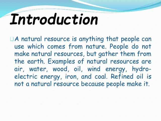 natural resources definition and classification pdf