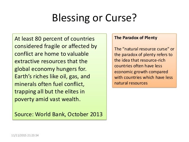 Natural Resource Curse Or Blessing