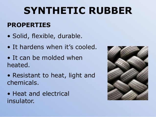 Uses Of Natural And Synthetic Rubber