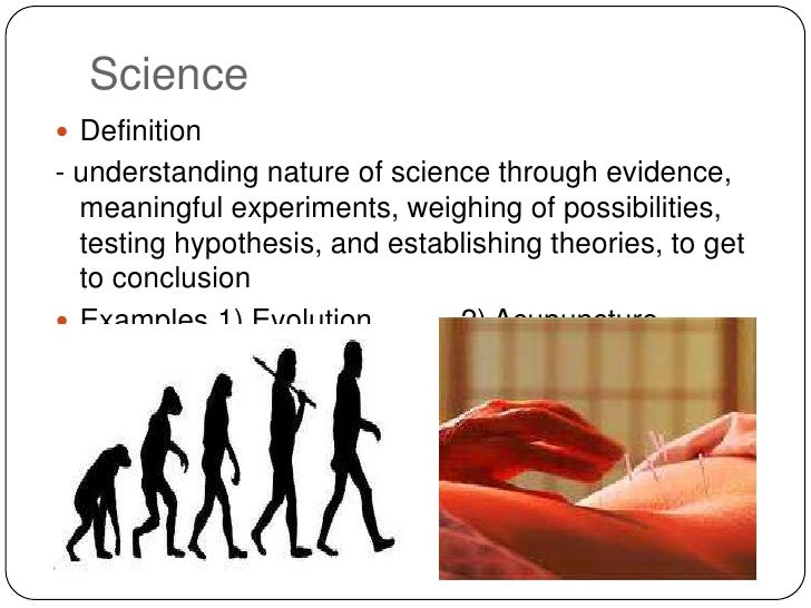 science pseudoscience natural definition nature evidence