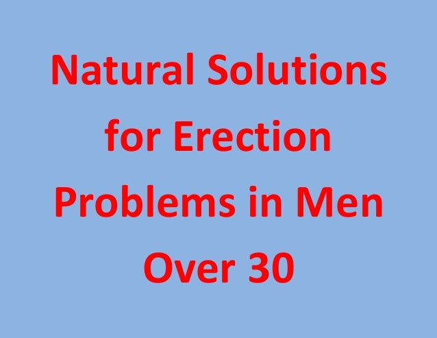 how to solve erection problem