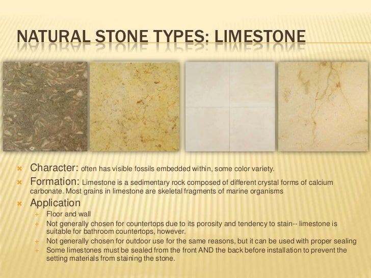 Natural stone application for interiors Stone flooring types