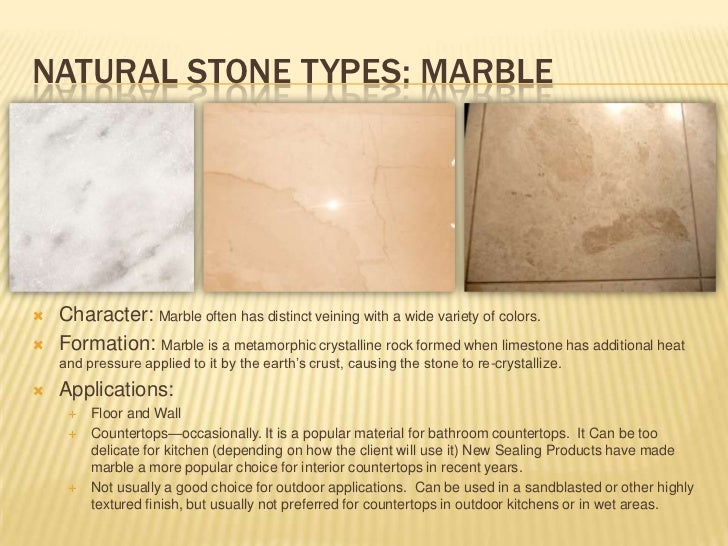 Types Of Natural Stone : Types of stone flooring materials