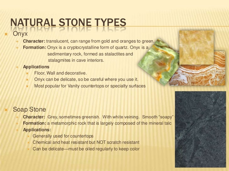 Types Of Onyx : Natural stone application for interiors