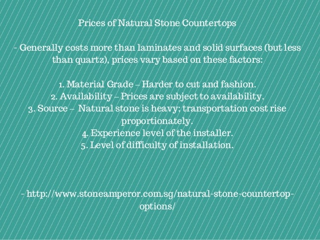 4. Prices Of Natural Stone Countertops ...