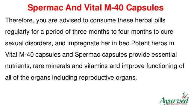 Natural cure for low sperm count