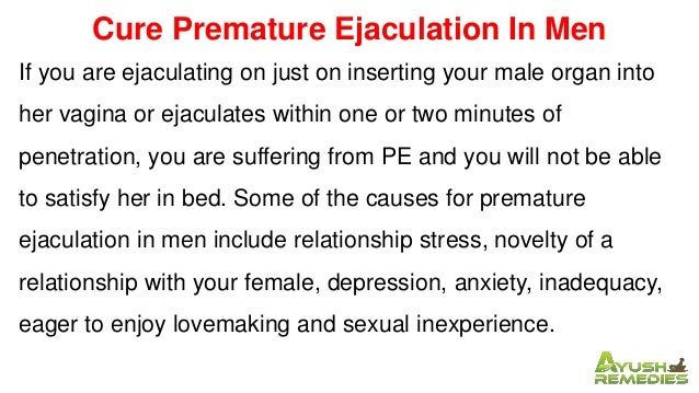 How to cure premature ejaculation naturally