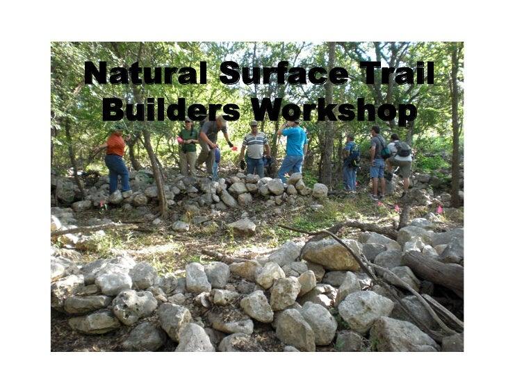 Natural Surface Trail Builders Workshop