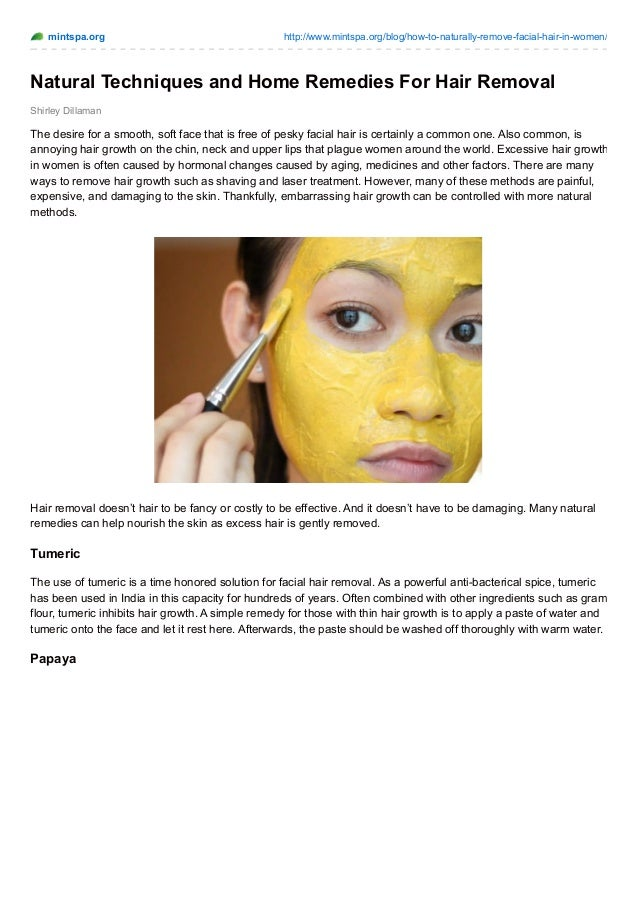 Femail facial hair natural treatment