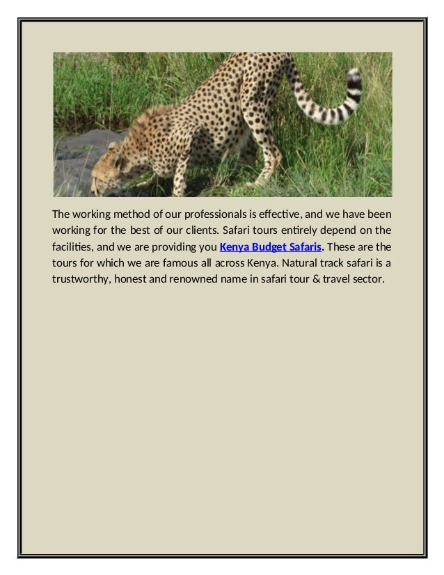 Natural track safari offer amazing tour packages for kenya