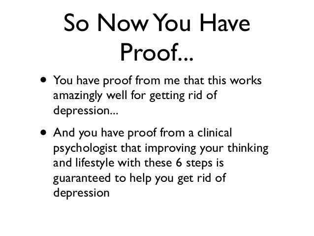 what gets rid of depression