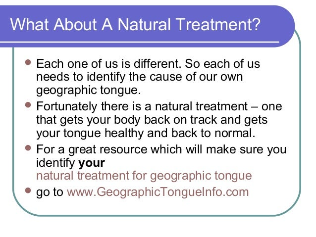 Geographic Tongue Natural Treatment
